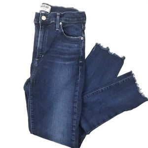 AGOLDE Sophie high rise raw ankle jeans